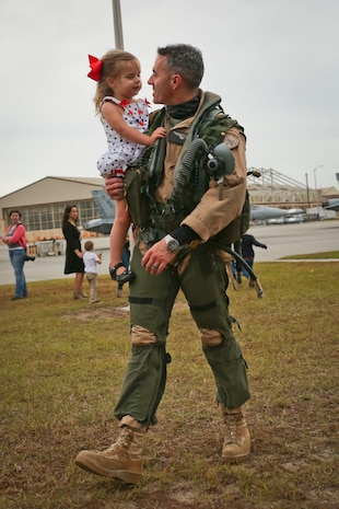 Aircraft and crew with Marine All-Weather Fighter Attack Squadron 224 returned from their deployment Nov. 21 aboard Marine Corps Air Station Beaufort. The squadron deployed to support combat operations in the Central Command area of operations.
