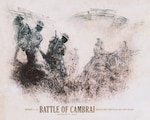 The 100th anniversary of the Battle of Cambrai in France falls on Nov. 20, 2017. The battle was the Army's first major campaign in World War I and the first effective large-scale use of combined arms. DoD illustration by Travis Burcham