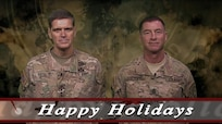 """To all of our service members, civilians, contractors, and family members, we appreciate your service and sacrifice. You are part of our extended team, and we can't succeed without you. We wish each of you a happy holiday season, and best wishes for 2018."" 