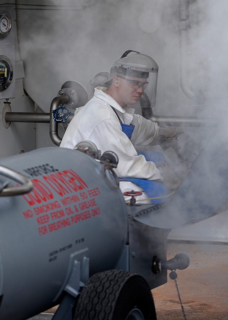 Cooler Than Cool, LRS Airmen produce liquid oxygen at Andersen