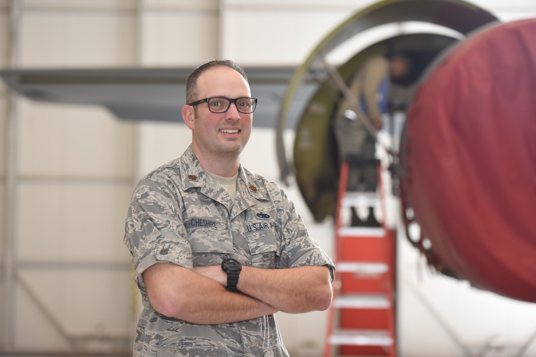 Maj. Christopher Cheshire, 940th Maintenance Group quality assurance officer in charge, poses for a photo Nov. 9, 2017, at Beale Air Force Base, California.