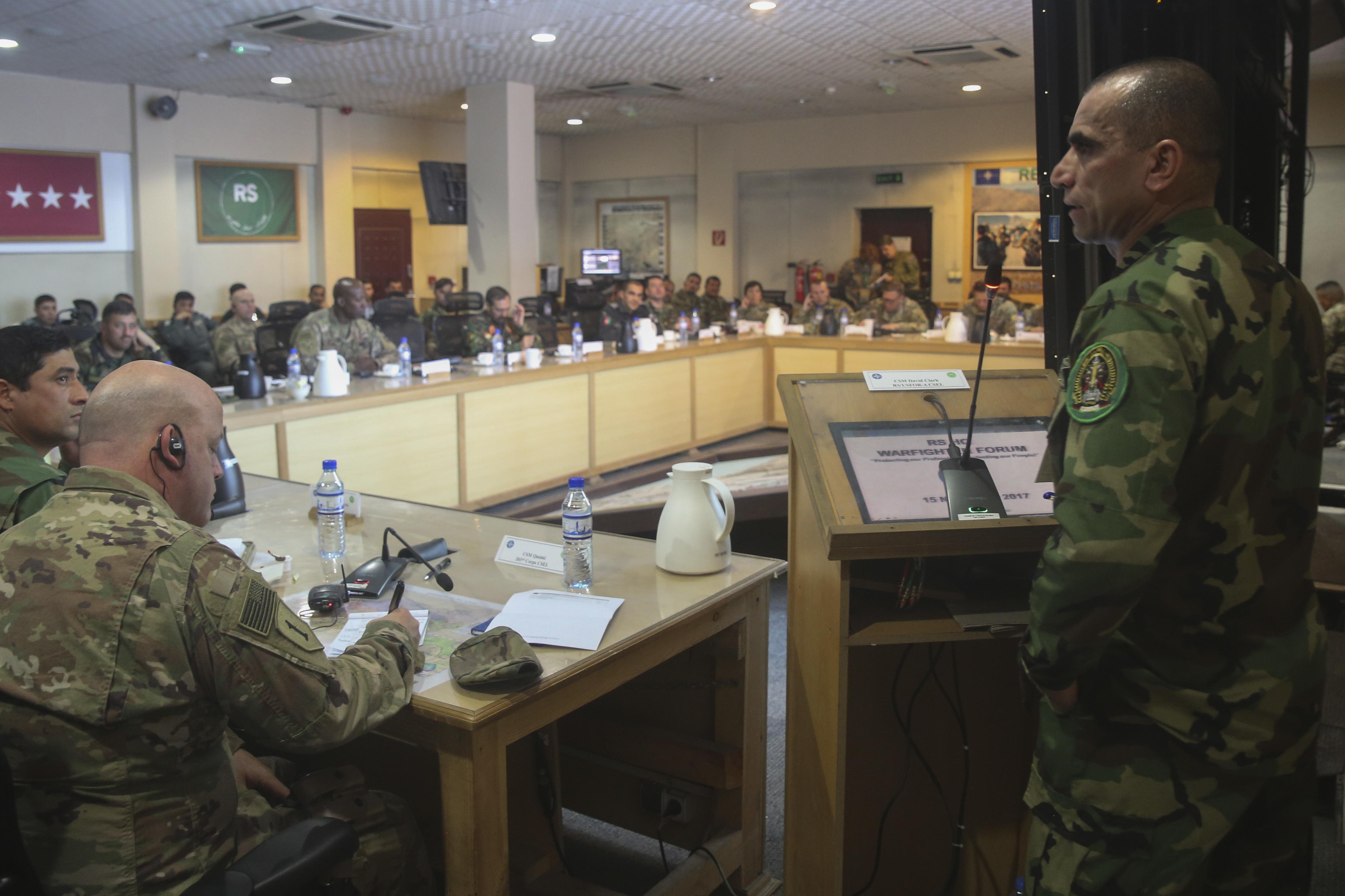 Afghan, U S  senior enlisted leaders gather for warfighter