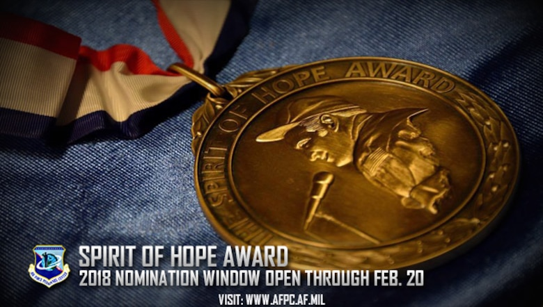 Spirit of Hope Award; 2018 nomination window open through Feb. 20