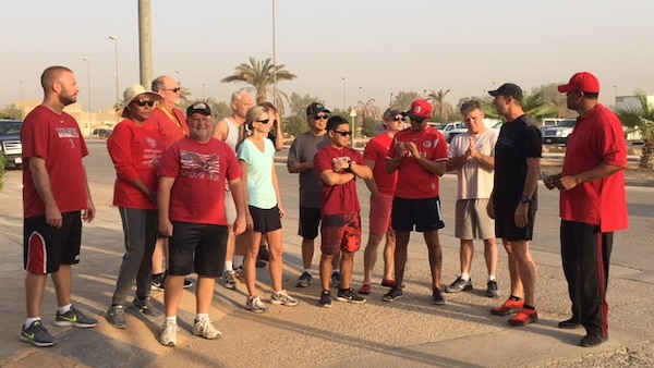 Members of the Defense Contract Management Agency's Middle East office participated in a 5k walk or run event.