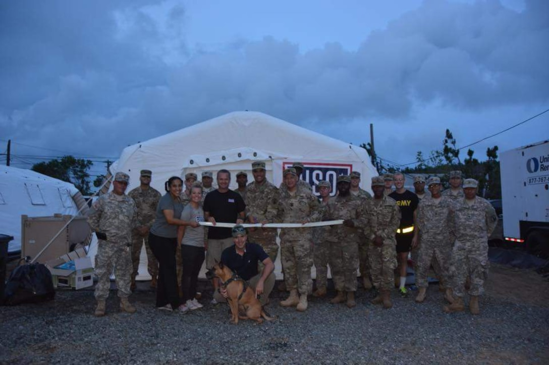 USO Serves Soldiers in Puerto Rico