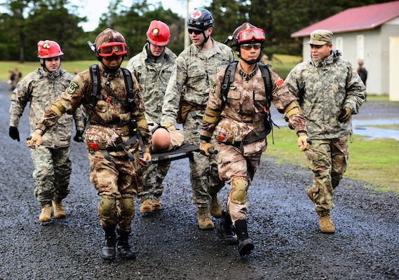 Oregon National Guard trains with Chinese in rescue drill