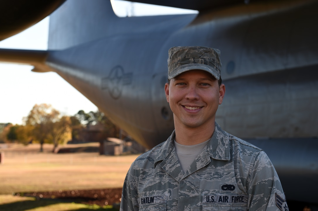Airman poses for a photo
