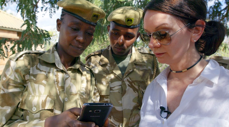 """Lt. Col. Faye Cuevas is one of the architects behind a project called tenBoma, a cooperative effort between the International Fund for Animal Welfare and the Kenya Wildlife Service that aims to protect elephants by stopping poaching before it happens. TenBoma takes its name from an old Kenyan community policing philosophy, which roughly translates to """"10 houses."""""""