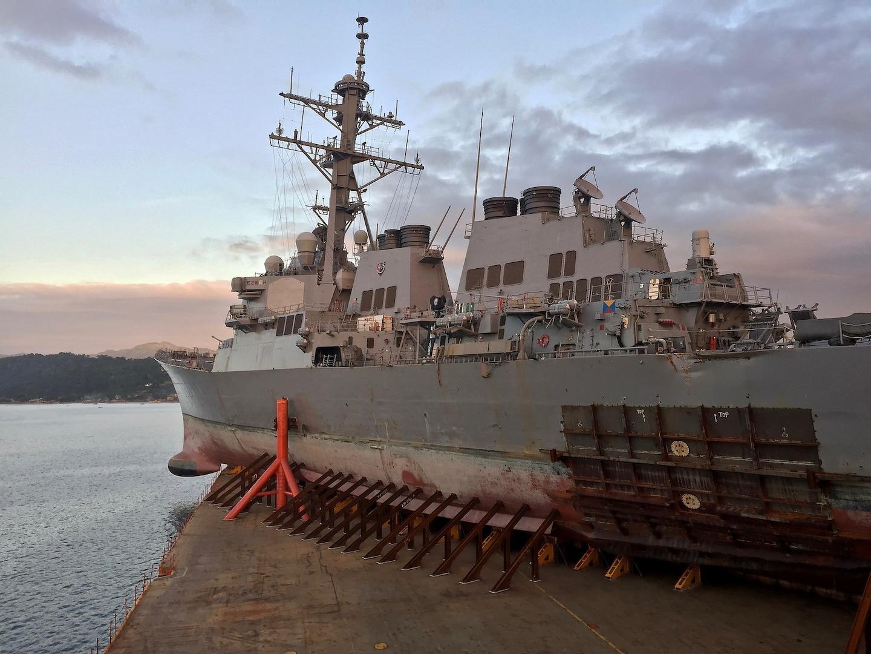 USS John S McCain Departs Subic Bay En Route to Yokosuka