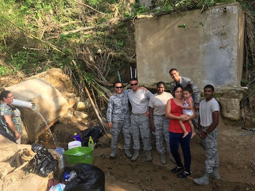 An emergency relief team poses for a photo in Puerto Rico on Oct. 28, 2017. (Courtesy photo)