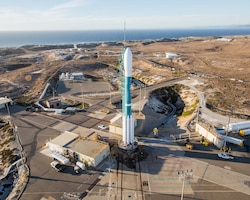 Delta II rocket carrying Joint Polar Satellite System-1 launch pad