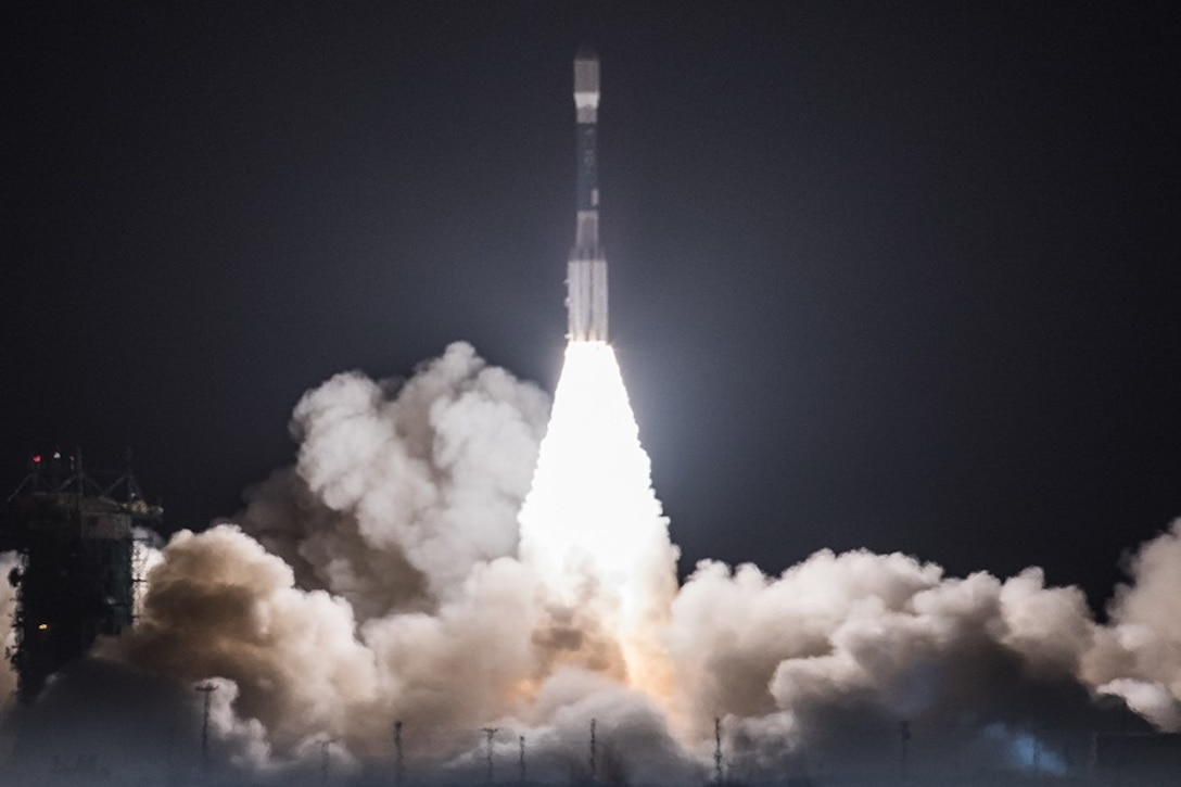 Delta II rocket carrying Joint Polar Satellite System-1 lifts off