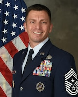"""Chief Master Sergeant Antonio J. Goldstrom is the Command Chief Master Sergeant, 12th Flying Training Wing, Joint Base San Antonio-Randolph, Texas. The wing is the """"Source of America's Airpower"""" and consists of three flying groups and a maintenance group spanning more than 1,400 miles from JBSA-Randolph, Texas, Naval Air Station Pensacola, Florida and to the U.S. Air Force Academy, Colorado."""