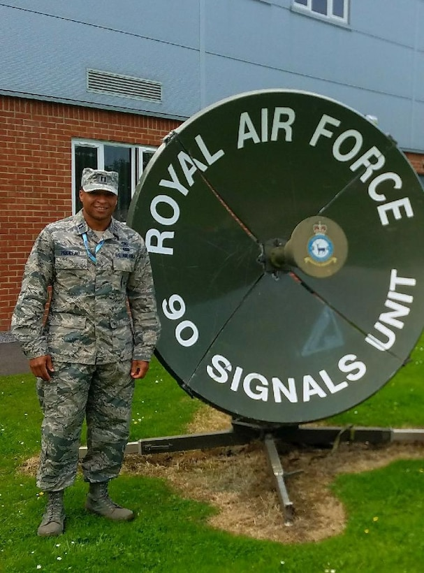 U.S. Air Force Capt. Bakari Prioleau, the 169th Security Forces Squadron operations officer at McEntire Joint National Guard Base, South Carolina Air National Guard, trains with the United Kingdom's Royal Air Force.