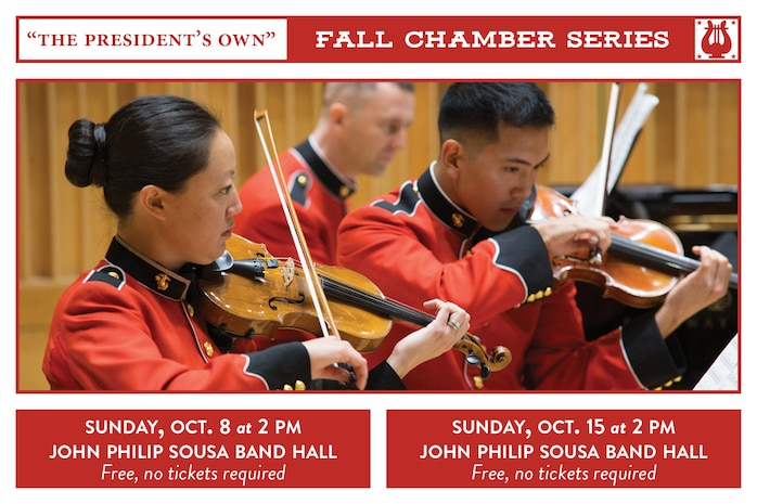 Fall Chamber Series Concerts: Oct. 8 & 15