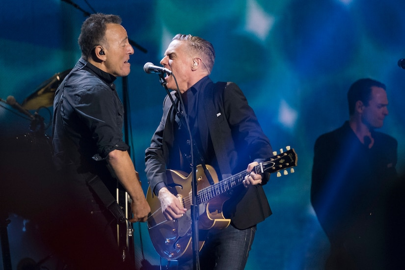 Bruce Springsteen, left, and Bryan Adams perform during the closing ceremony for the 2017 Invictus Games.