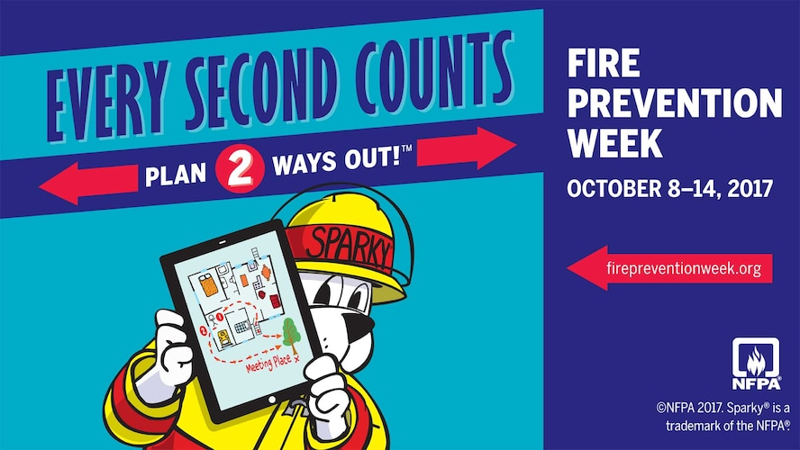 This year's Fire Prevention Week is Oct. 8-14 and the RAF Mildenhall fire Department has several events planned. (Courtesy graphic)