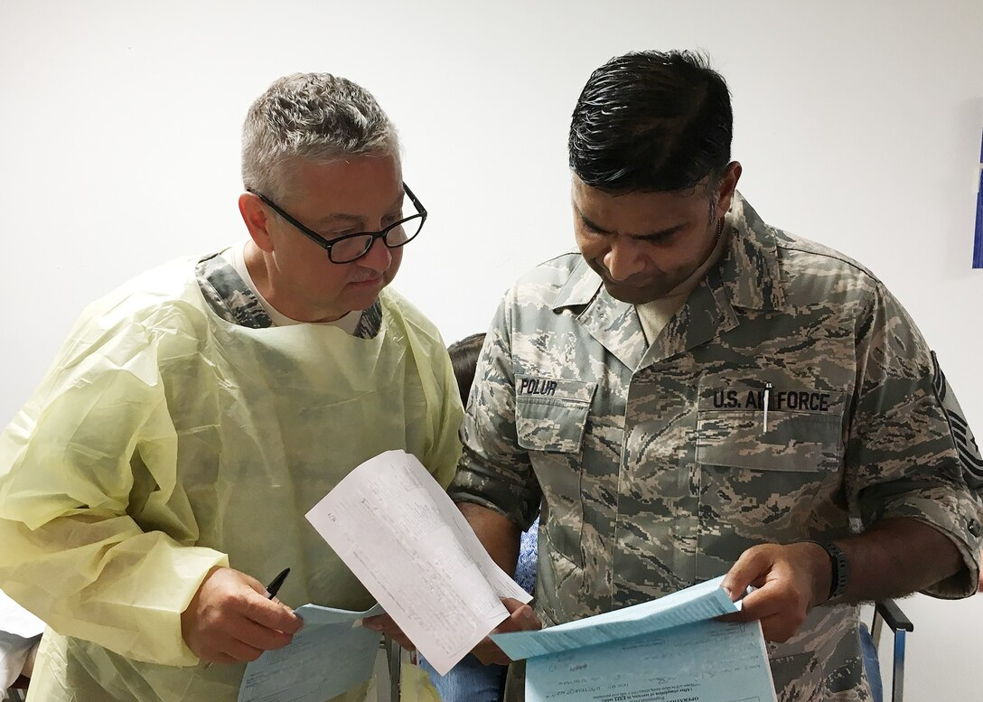 Air National Guard, Navy (Active and Reserve), and Active Component Air Force dentists trained and provided dental care at a field-condition medical facility set up at the Eastwood Memorial United Methodist Church in Caruthersville, Missouri, from Sept. 13-21, during Operation Healthy Delta Innovative Readiness Training.