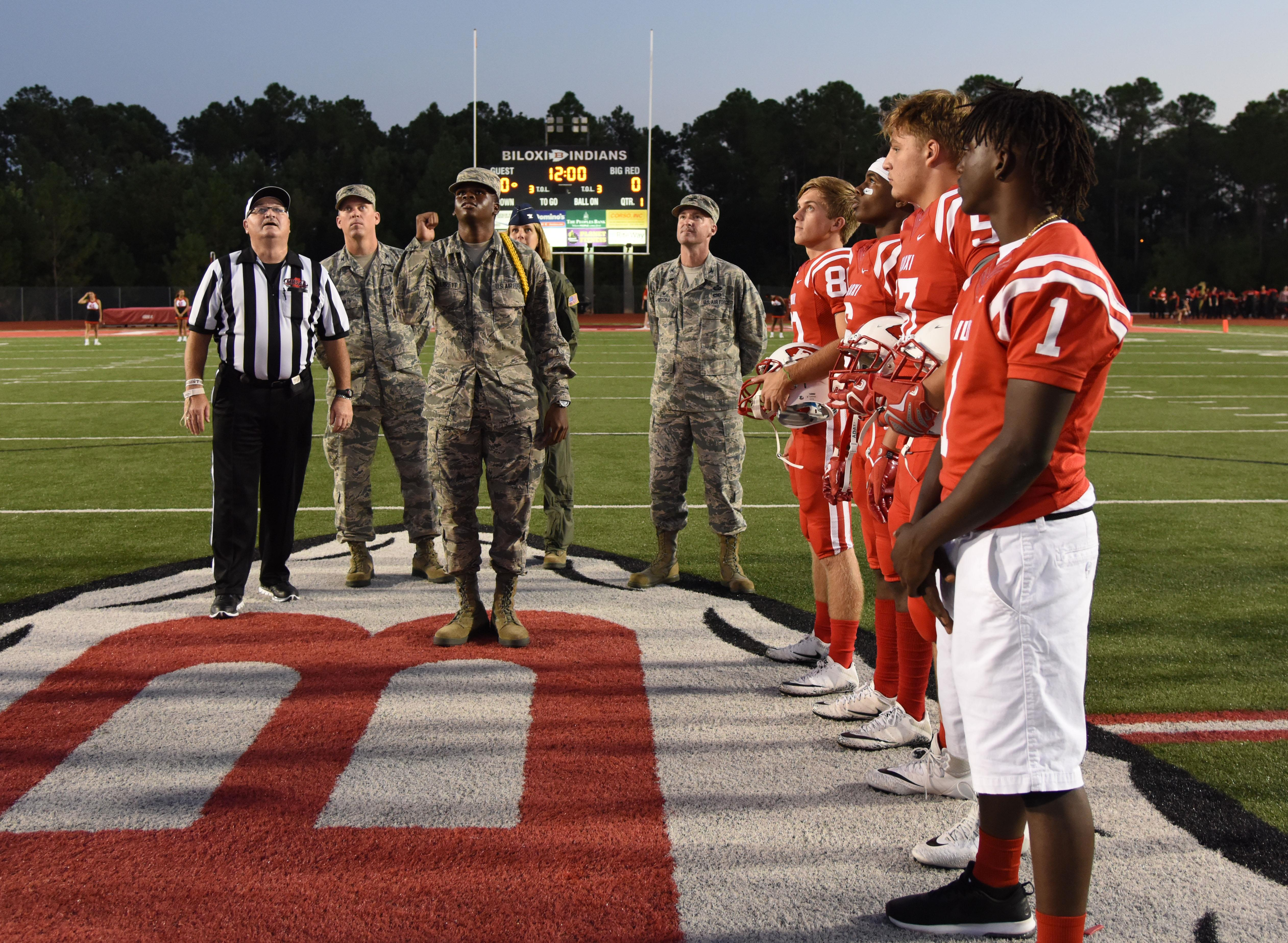 Dragons Recognized At Local Football Game Keesler Air Force Base