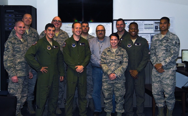 Members of the codes flight on F.E. Warren Air Force Base pose for a photo sept. 29, 2017. Through programming and requiring more than one person to control coded equipment, the codes flight directly contributes to F.E. Warren's nuclear surety.