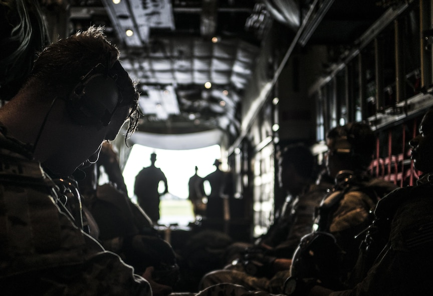 Military free fall operations at Kadena