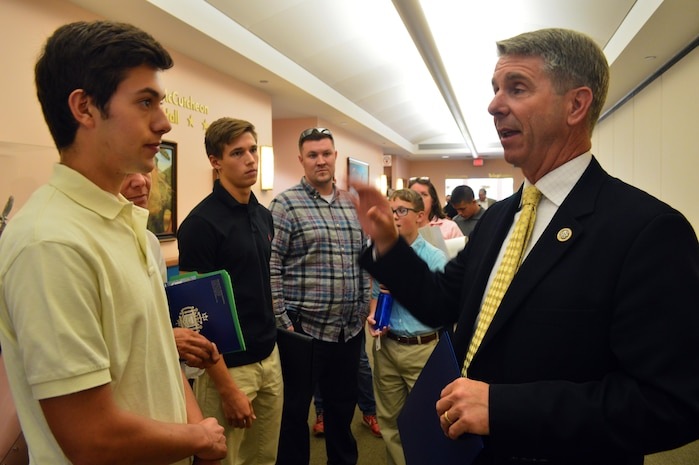 Students were able to meet face to face with Congressman Rob Wittman to discuss the service academy nomination process.