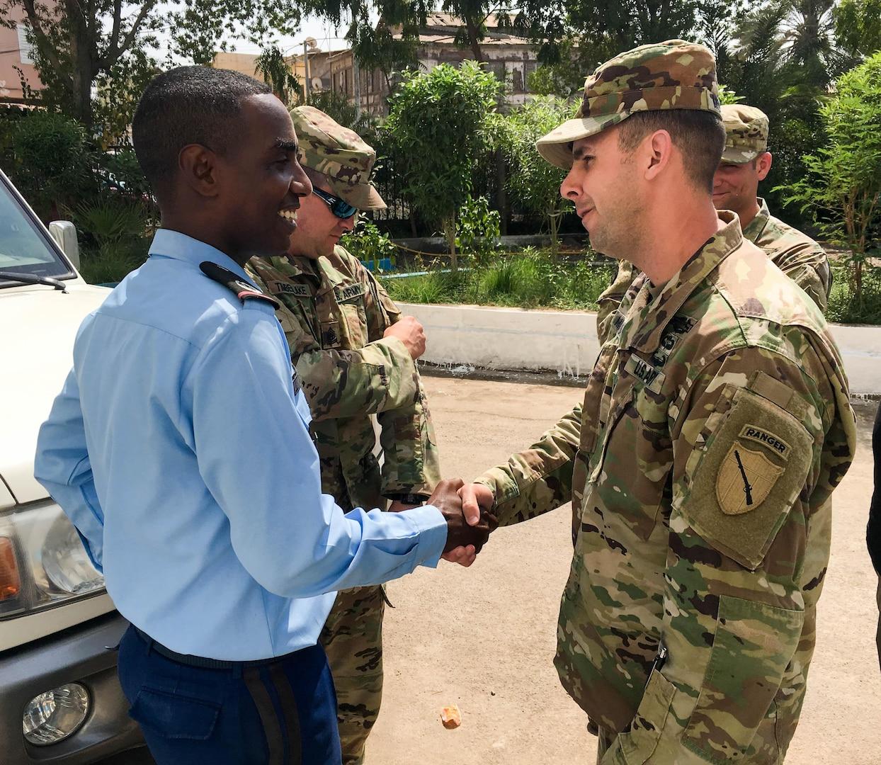KY Soldiers visit Djibouti