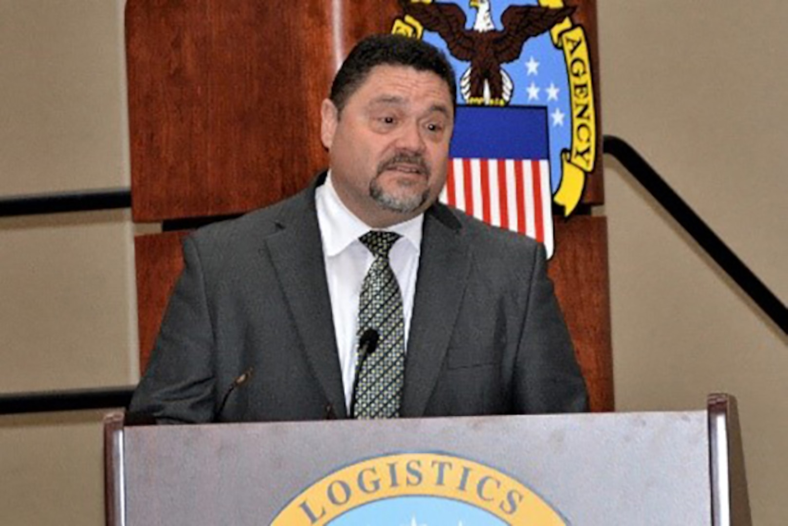 Miguel Zayas, division chief of the Procure-to-Pay Process cycle Integration, Defense Logistics Agency Acquisition, Fort Belvoir, Virginia was guest speaker for DLA Aviation's Hispanic Heritage Month celebration, Sept. 26, 2017, in Richmond.