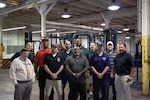 Back Row: Kenneth Dowd, Hubbeard Ervin, Nathan Creech, Christopher Johnson, Eric Marshall, Roy Stringer Front Row: Jake Murray, Christopher Milazzo, Jesse French, Michael Cornelius, Patrick Quenga