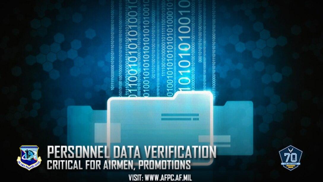 Personnel data verification critical for Airmen, promotions