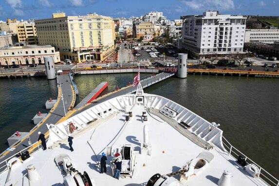 USNS Comfort in Puerto Rico