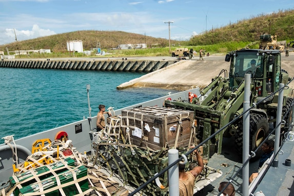 The 26th MEU is supporting Federal Emergency Management Agency, the lead federal agency, in helping those affected by Hurricane Maria in Puerto Rico to minimize suffering and is one component of the overall whole-of-government response effort.