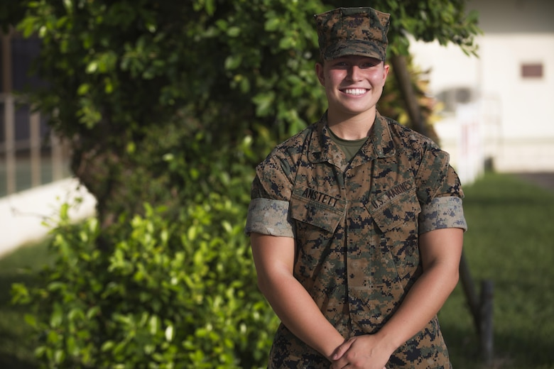 Cpl. Jessica A. Anstett poses for a photo