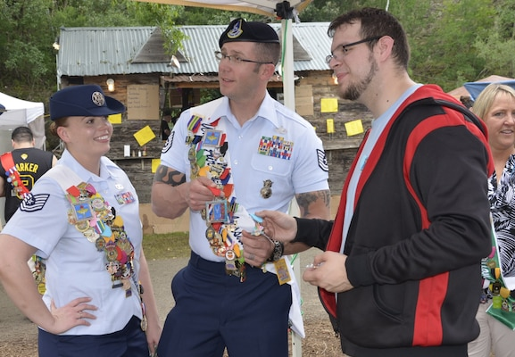 Joint Base San Antonio Air Force Ambassadors  Tech. Sgt. Jacqueline I. Crow and Tech. Sgt. Steven Nowicki take part in the Taste of New Orleans event at the Sunken Gardens Amphitheatre in San Antonio in 2016.