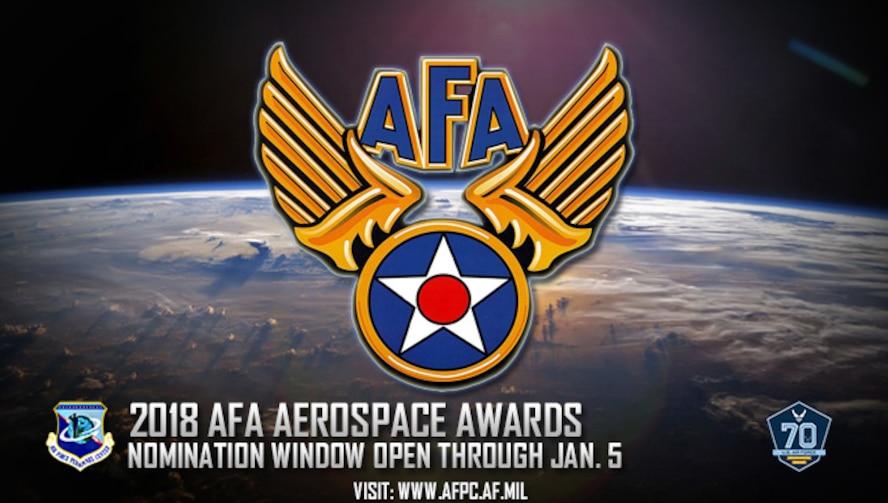 2018 AFA Aerospace Awards; nomination window open through Jan. 5