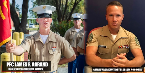 Private First Class James F. Garand graduated Marine Corps recruit training October 06, 2017, aboard Marine Corps Recruit Depot Parris Island, South Carolina. Garand was the Honor Graduate of platoon 2078. Garand was recruited by Staff Sgt. Sean P. O'Connell from Recruiting Substation Sarasota. (U.S. Marine Corps photo by Lance Cpl. Jack A. E. Rigsby)