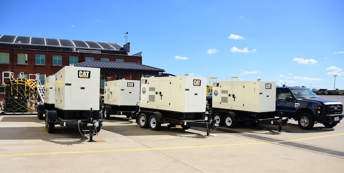 Prime Power equipment from the 118th Civil Engineer Squadron (CES) waits on the tarmac at Berry Field Air National Guard Base, Nashville Tenn. on Oct 3, 2017.