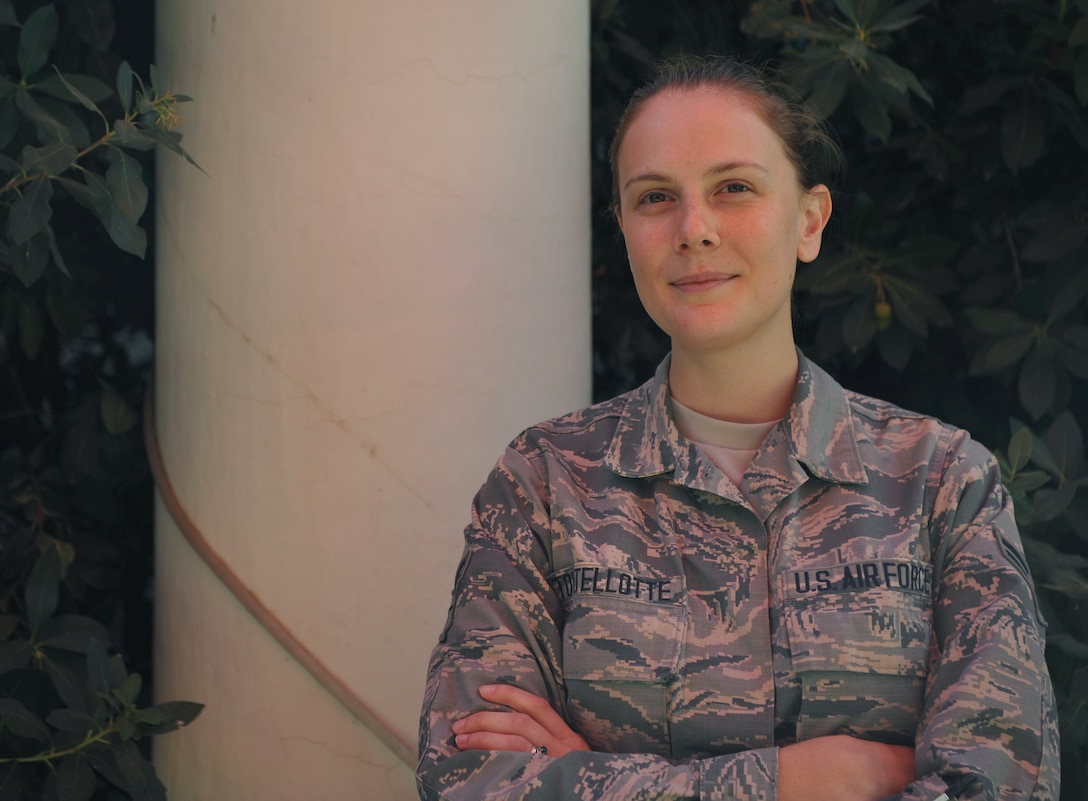 Airman 1st Class Dana M. Tourtellotte, 9th Intelligence Squadron aerial film processor, poses for a photo