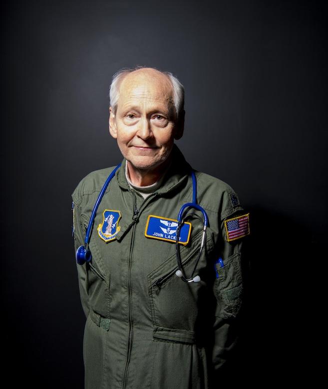 Photo of Lt. Col. John Lackey, Flight Physician for the 130th Medical Group, McLaughlin Air National Guard Base, Charleston, W.Va.