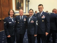 Senior Airman Amanda Wang was selected recently to accompany 480th Intelligence, Surveillance and Reconnaissance Wing leadership during their annual Capitol Hill visit to Washington D.C. Oct. 4, 2017.