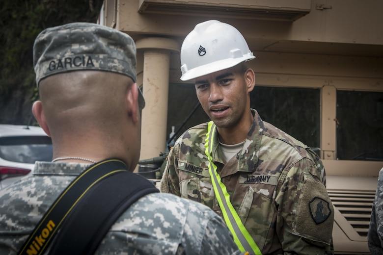 1st MSC commander surveys Hurricane Maria recovery