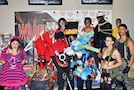 Contestants for the Warrior Con 2017 costume contest pose together for a group shot at second annual Fort Riley Warrior Zone Sept. 17. The all-day nerd convention was filled with activities such as anime theater, free gaming tournaments, Pathfinder game, Dungeons and Dragons game, boffer sword battle, photo booth, NERD-ACADEMICS, spelling bee, trivia and riddles and cosplay contest.