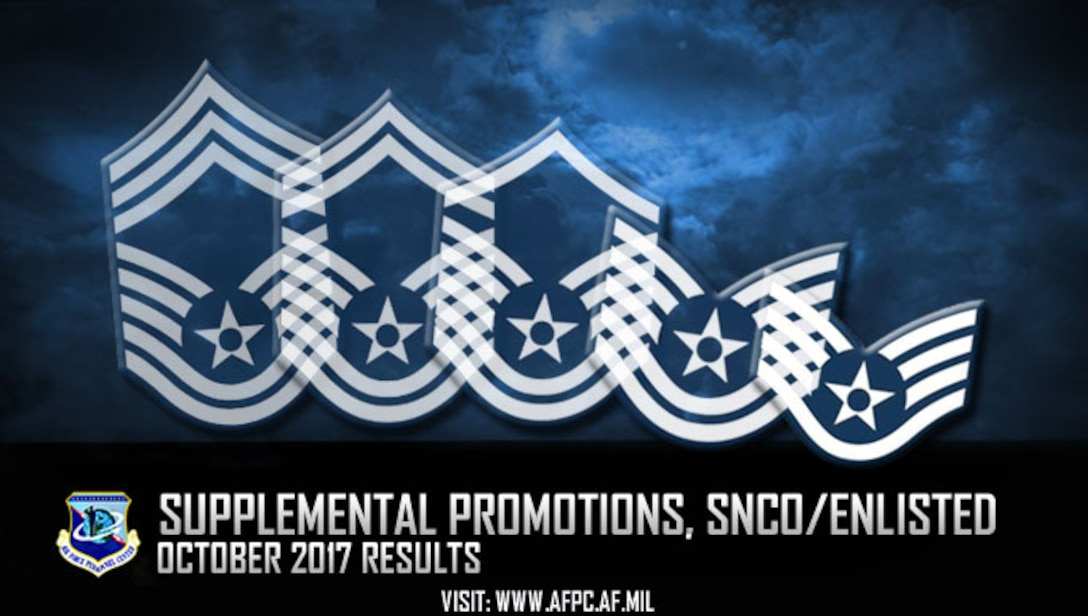 The Air Force selected 609 Airmen today for promotion via the enlisted in-system supplemental promotion process and senior noncommissioned officer supplemental promotion board. (U.S. Air Force graphic by Staff Sgt. Alexx Pons)