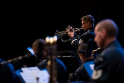 Trumpeter performs