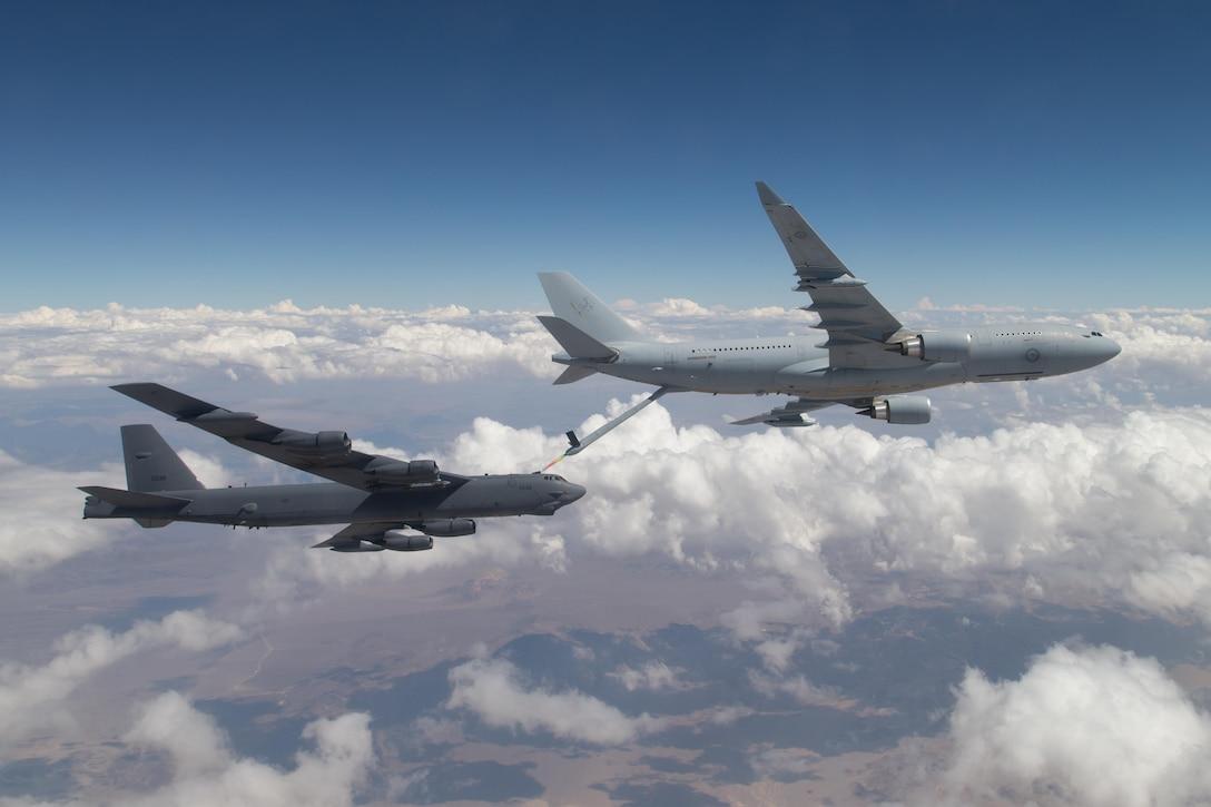 KC-30A refuels a B-52