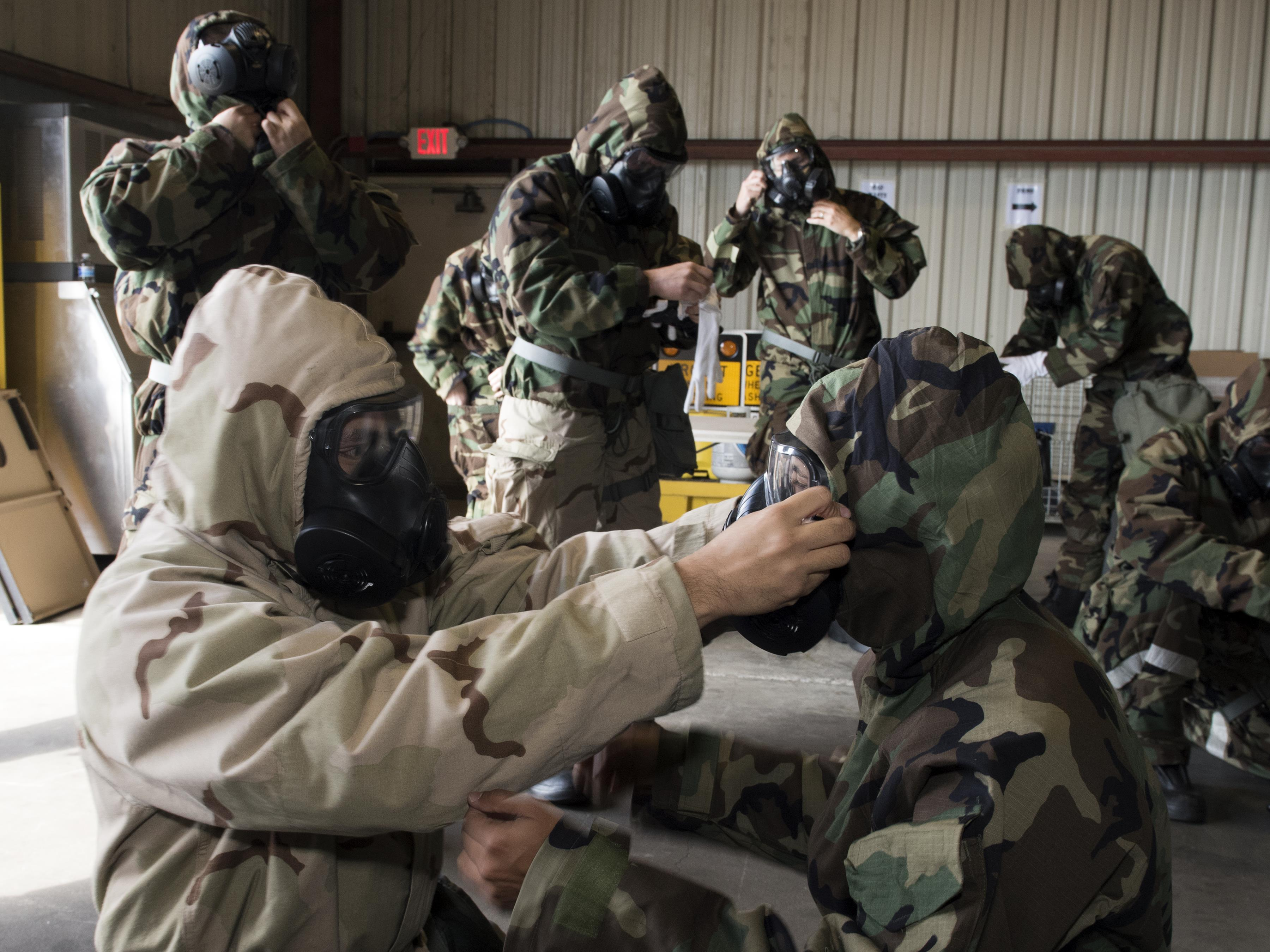 CBRN training increases Travis readiness > Travis Air Force Base