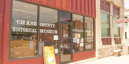The Chase County Historical Museum is at 301 Broadway St. in Cottonwood Falls. The museum is open Tuesday through Saturday from 10 a.m. to 3 p.m. and provides a variety of exhibits featuring the history of the Flint Hills region. For more information visit chasecountyhistoricalmuseum.com.