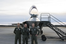 Members of the 354th Fighter Wing pose with a Norweigian pilot in front of an F-35A Lightning II.