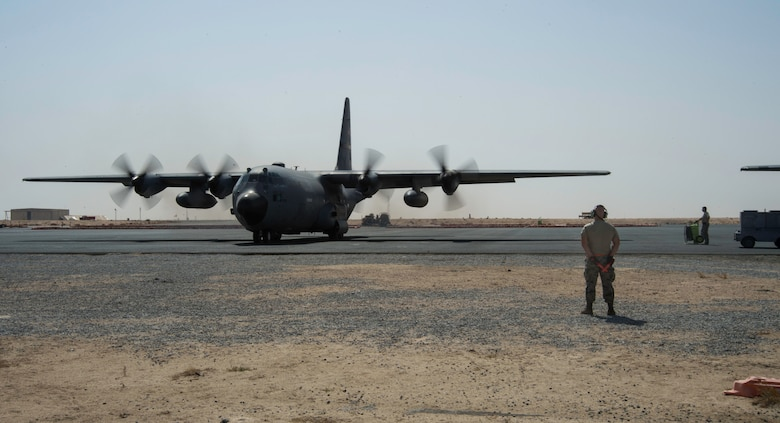 The 386th Air Expeditionary Wing reached a five year high in September for the number of C-130H Hercules sorties supporting Combined Joint Task Force -- Operation Inherent Resolve.
