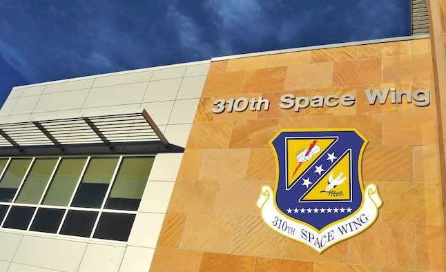 The 310th Space Wing headquarters building resides at Schriever AFB, Colorado, with geographically separated units at Peterson and Buckley AFB, Colorado, and Vandenberg AFB, Cali.